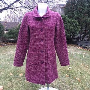 Girl's Dollhouse Pink Tweed Coat